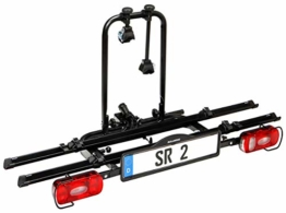Bullwing SR2 - Fahrradträger für 2 Fahrräder auf die Auto Anhängerkupplung abklappbar (Rahmenhalter,Radstopper,Gurt) - 1