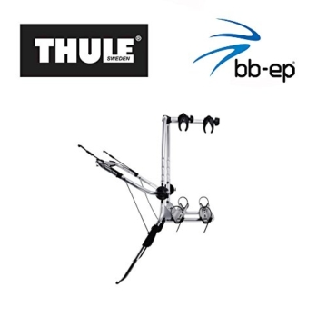 Einfacher Thule Heck-Fahrradträger 90505132 zum Transport von 2 Rädern auf der Heckklappe - passend für OPEL Corsa (D) - 1