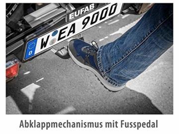 EUFAB 11521 Heckträger Premium ll für Anhängekupplung, für E-Bikes geeignet - 7