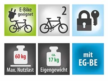 EUFAB 11521 Heckträger Premium ll für Anhängekupplung, für E-Bikes geeignet - 8