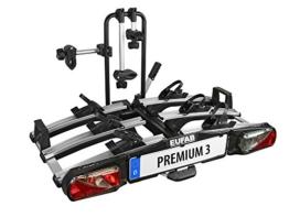 """Eufab 11522 Heckträger """"Premium III"""" für Anhängekupplung klappbar 3 Fahrräder, für E-Bikes geeignet - 1"""
