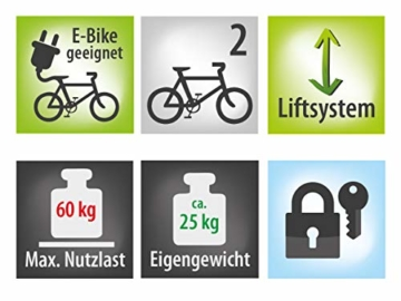 EUFAB 11535 Heckträger Bike Lift, für E-Bikes geeignet - 13