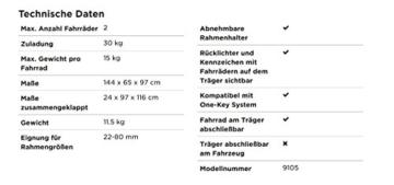 Thule ClipOn High 9105, Heckklappen-Fahrradträger - 6