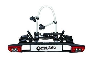 Westfalia BC 60 (Modell 2018) Fahrradträger für die Anhängerkupplung inkl. Tasche - Klappbarer Kupplungsträger für 2 Fahrräder - E-Bike geeigneter Universal-Radträger mit 60kg Zuladung - 2