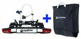 Westfalia BC 60 (Modell 2018) Fahrradträger für die Anhängerkupplung inkl. Tasche - Klappbarer Kupplungsträger für 2 Fahrräder - E-Bike geeigneter Universal-Radträger mit 60kg Zuladung - 1