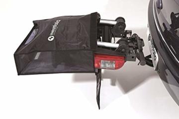 Westfalia BC 60 (Modell 2018) Fahrradträger für die Anhängerkupplung inkl. Tasche - Klappbarer Kupplungsträger für 2 Fahrräder - E-Bike geeigneter Universal-Radträger mit 60kg Zuladung - 3