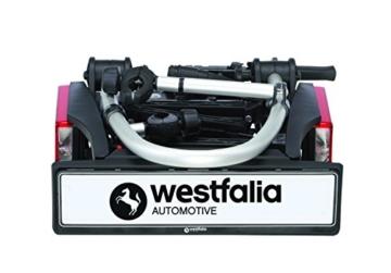 Westfalia BC 60 (Modell 2018) Fahrradträger für die Anhängerkupplung inkl. Tasche - Klappbarer Kupplungsträger für 2 Fahrräder - E-Bike geeigneter Universal-Radträger mit 60kg Zuladung - 5