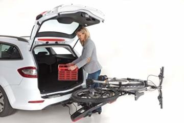 Westfalia BC 60 (Modell 2018) Fahrradträger für die Anhängerkupplung inkl. Tasche - Klappbarer Kupplungsträger für 2 Fahrräder - E-Bike geeigneter Universal-Radträger mit 60kg Zuladung - 6