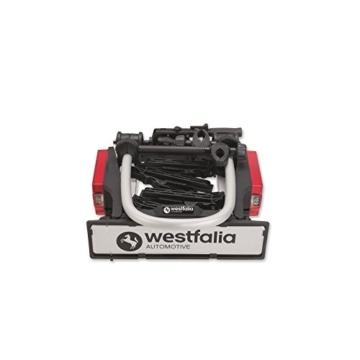 Westfalia bikelander Fahrradträger für Anhängerkupplung - Zusammenklappbarer Kupplungsträger für 2 Fahrräder - E-Bike geeigneter Universal-Radträger mit 60kg Zuladung - 2