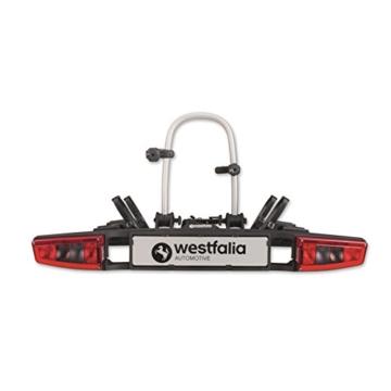 Westfalia bikelander Fahrradträger für Anhängerkupplung - Zusammenklappbarer Kupplungsträger für 2 Fahrräder - E-Bike geeigneter Universal-Radträger mit 60kg Zuladung - 1