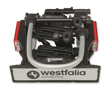 Westfalia bikelander classic Fahrradträger für die Anhängerkupplung - Zusammenklappbarer Kupplungsträger für 2 Fahrräder - E-Bike geeigneter Universal-Radträger mit 60 kg Zuladung - 2