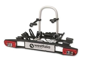 Westfalia bikelander classic Fahrradträger für die Anhängerkupplung - Zusammenklappbarer Kupplungsträger für 2 Fahrräder - E-Bike geeigneter Universal-Radträger mit 60 kg Zuladung - 4