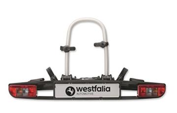 Westfalia bikelander classic Fahrradträger für die Anhängerkupplung - Zusammenklappbarer Kupplungsträger für 2 Fahrräder - E-Bike geeigneter Universal-Radträger mit 60 kg Zuladung - 1