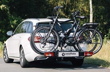 Westfalia bikelander classic Fahrradträger für die Anhängerkupplung - Zusammenklappbarer Kupplungsträger für 2 Fahrräder - E-Bike geeigneter Universal-Radträger mit 60 kg Zuladung - 7