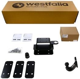 Westfalia starre Anhängerkupplung für Toyota Hilux Double Cab 4x4 (ab BJ 10/2010) im Set mit 13-poligem fahrzeugspezifischen Westfalia Elektrosatz - 1